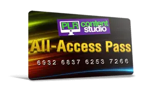 PLR-Content-All-Access-Pass Card