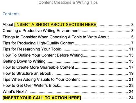 content-creation-plr-ebook-contents