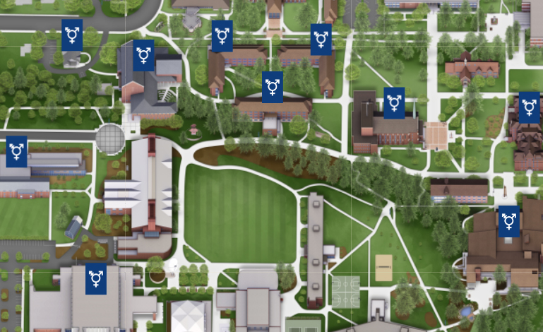 Pacific Lutheran University Campus Map.Map Campus Pacific Lutheran University