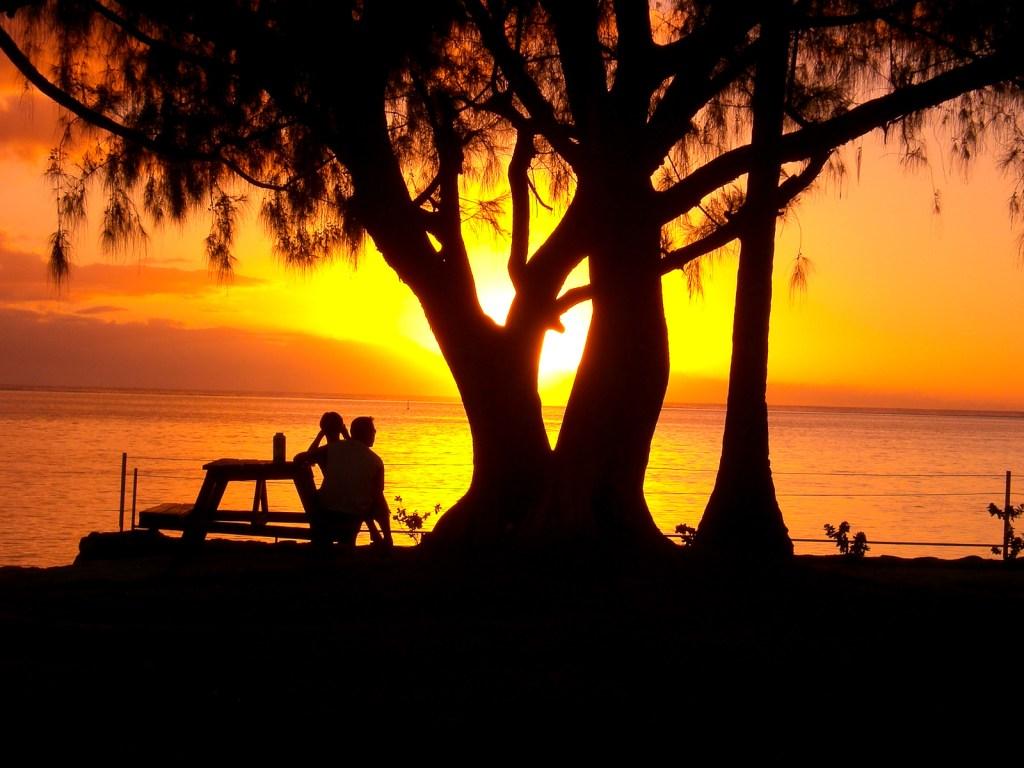 Polinesia, Moorea, sunset