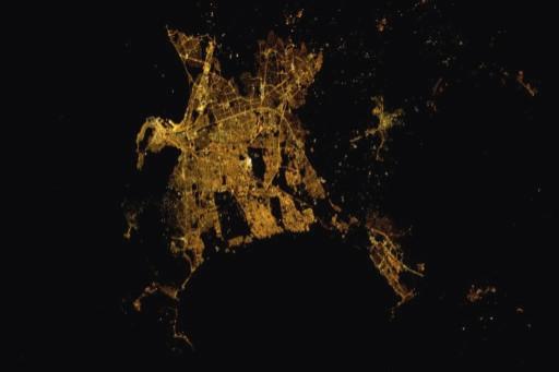 Cape Town vista dalla stazione spaziale