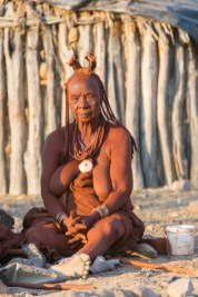 Himba, ethnic, portrait, woman, Namibia, old, sunset