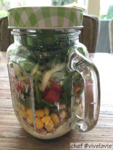 Groenten in een glas