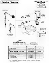 american standard toilet parts2 American Standard Toilets