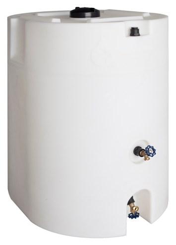 waterprepared white storage tank 150 gallon - vertical