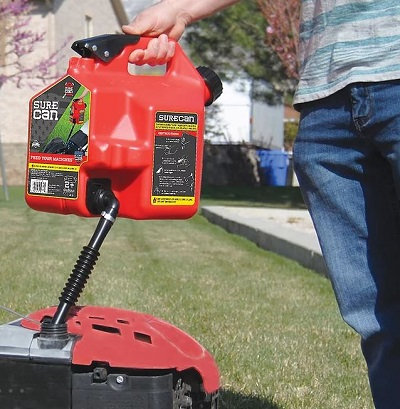 how to use surecan gas cans
