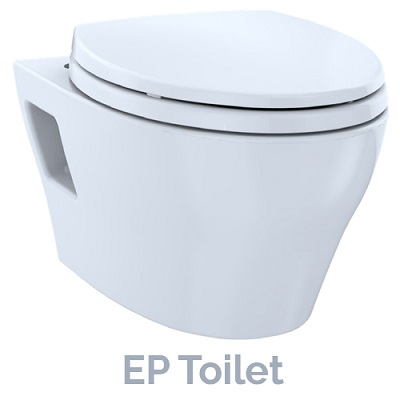 new TOTO EP wall-hung toilet model