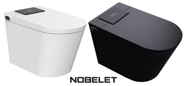 nobelet bidet toilet combos, both black and white