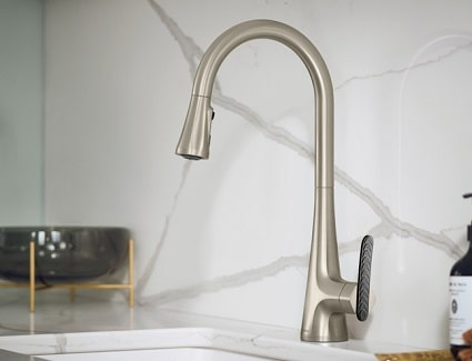 moen sinema pulldown kitchen faucet installed