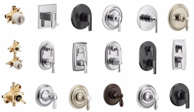 m-core valve and trim options side by side