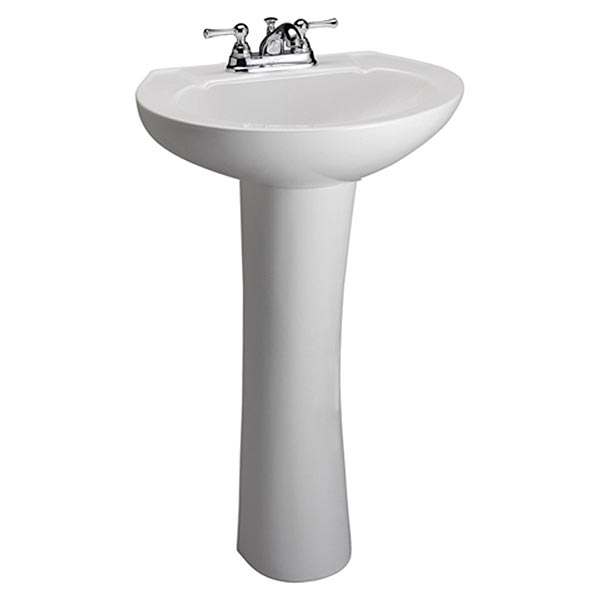 Glacier White Pedestal Bay Sink