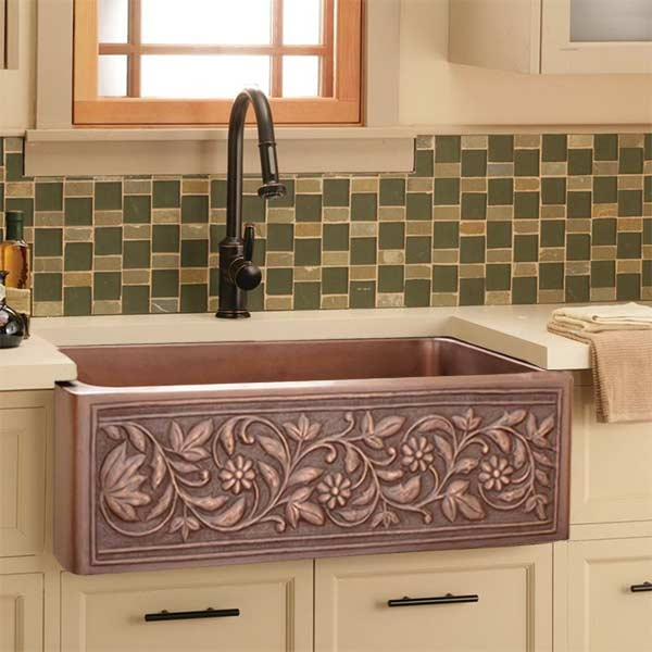 copper kitchen sinks in a variety of