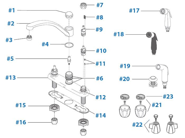 repair parts for delta kitchen faucets