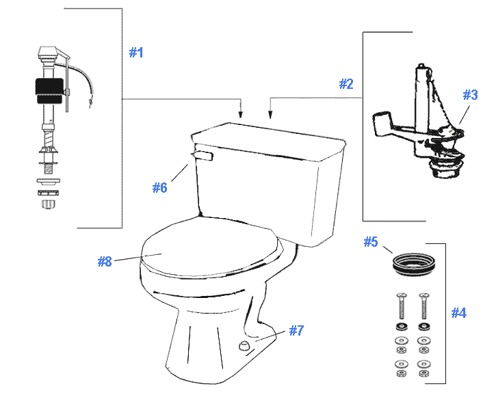 Replacement Parts For Gerber Mirage Toilets