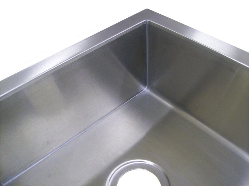 14 gauge stainless steel single bowl