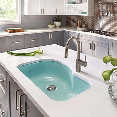 porcelain enameled steel kitchen sinks