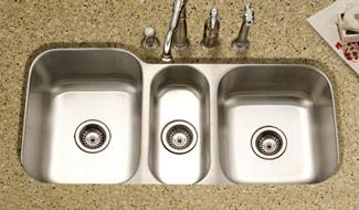 triple bowl undermount kitchen sinks
