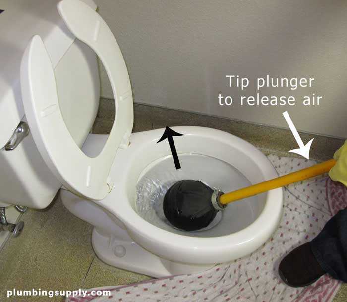 how to properly unclog a toilet
