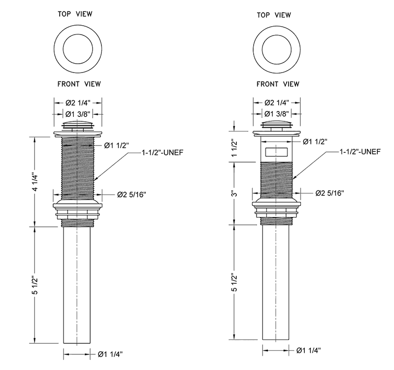 designer vessel sink drains