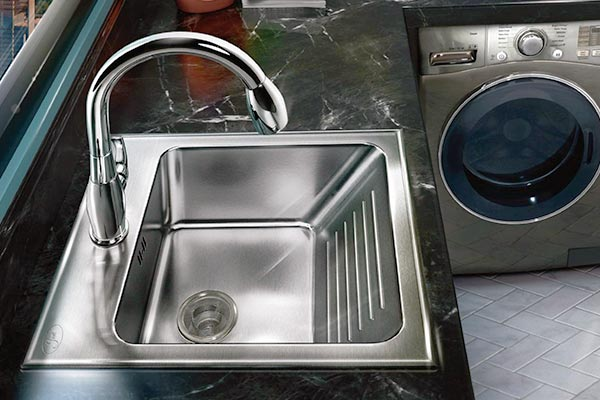 stainless steel washboard laundry sinks