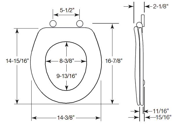 Elongated Toilet Seat Dimensions Brokeasshome Com