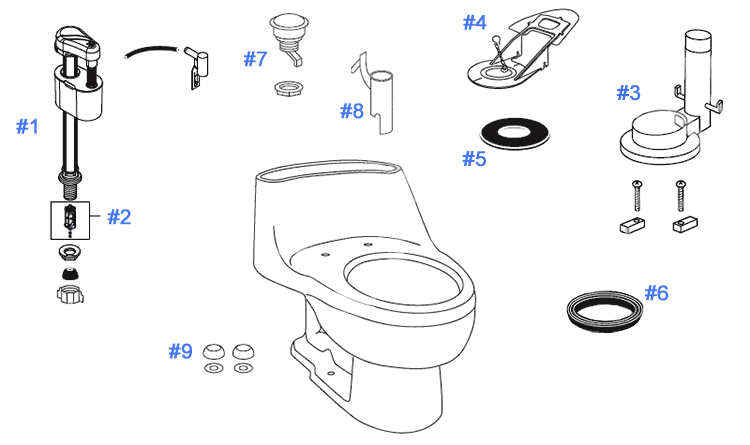 Toto Toilet Replacement Parts Diagram - DIY Enthusiasts Wiring ...