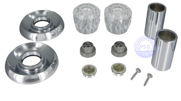 chrome tub shower trim kits for delta