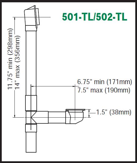 Brass Trip Lever Waste Amp Overflow Assembly 17 Gauge