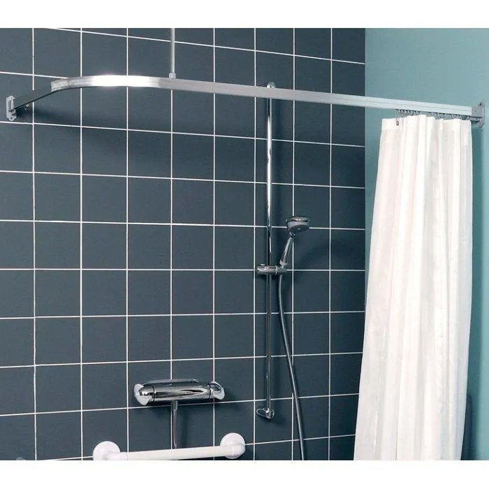 contour l shaped luxe curtain rail 750mm x 1200mm