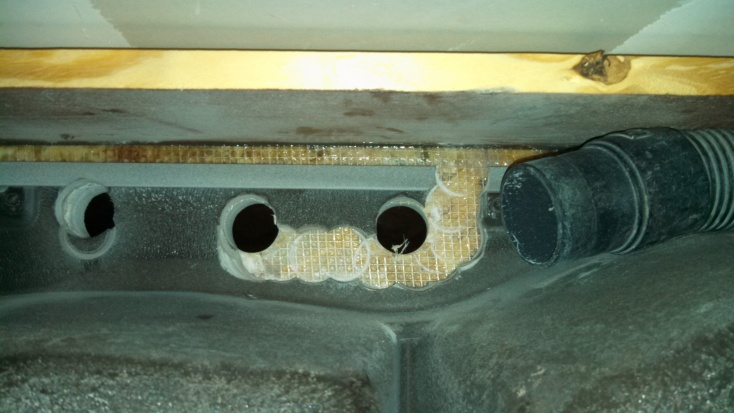 ways to cut swanstone sink plumbing