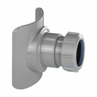 McALPINE GREY MECHANICAL SOIL PIPE BOSS CONNECTOR