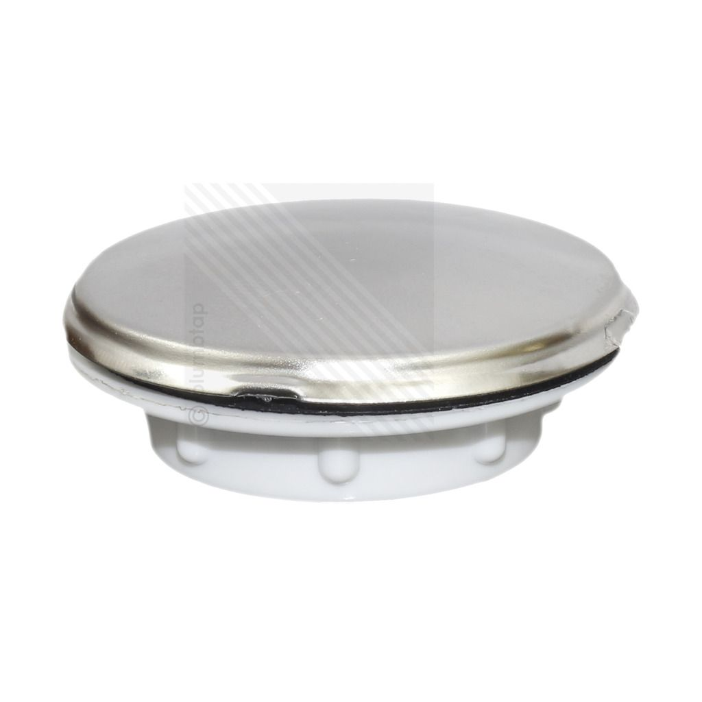 kitchen sink tap hole blanking plug screw on round disk cover plate stopper in chrome