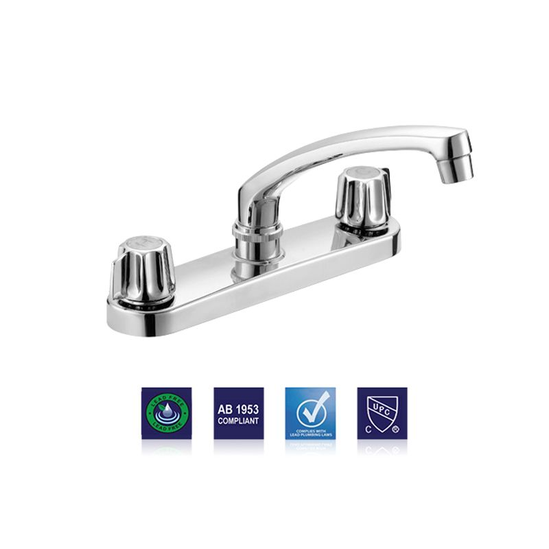 two handle kitchen faucet gerber style stems