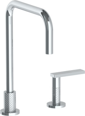 watermark lily deck mounted 2 hole square top kitchen faucet