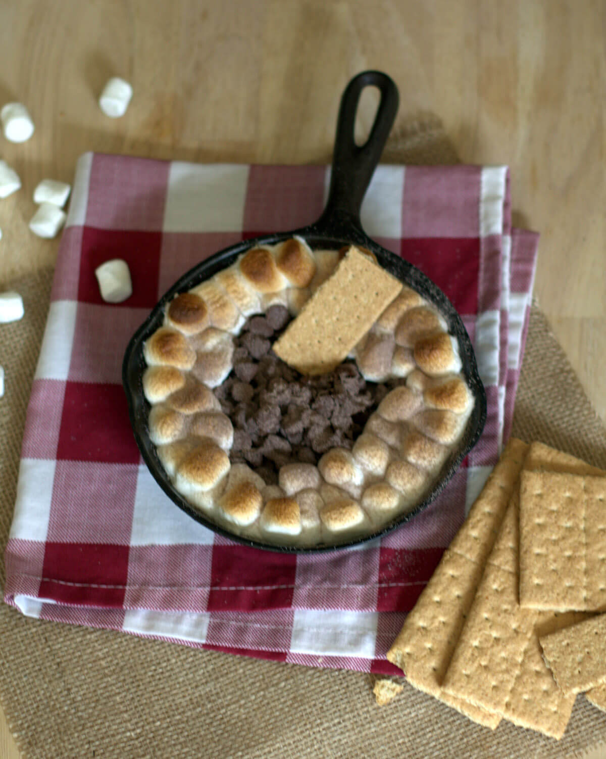 Oven Baked S Mores Dip