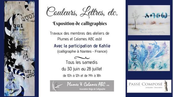 Plumes et Calames, calligraphie, exposition, Céline Foissey