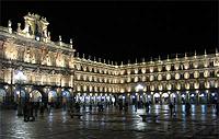 Plaza Mayor de Salamanca de Noche. JuanmaGColinas. Plumilla Berciano