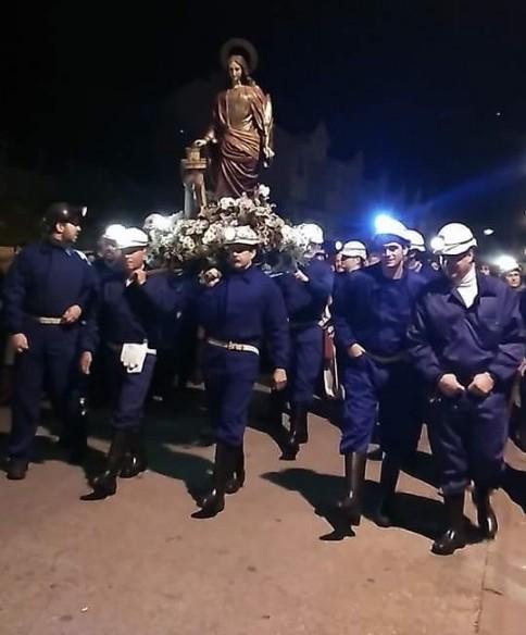 Pprocesion Santa Barbara Toreno Pendoneros Toreno Plumilla Berciano