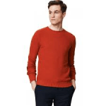 Men's Alpaca and Cotton Mix Detailed Stitch Sweater