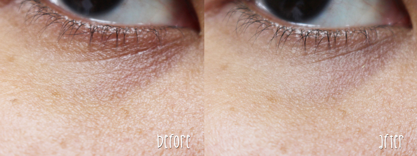 The Body Shop All-in-One Tinted Concealer + Primer Instablur Eye Before and After 2