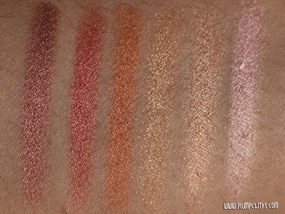 Sleek Sunset Palette Swatches 1