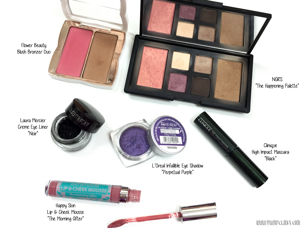 Purple Makeup Flat Lay