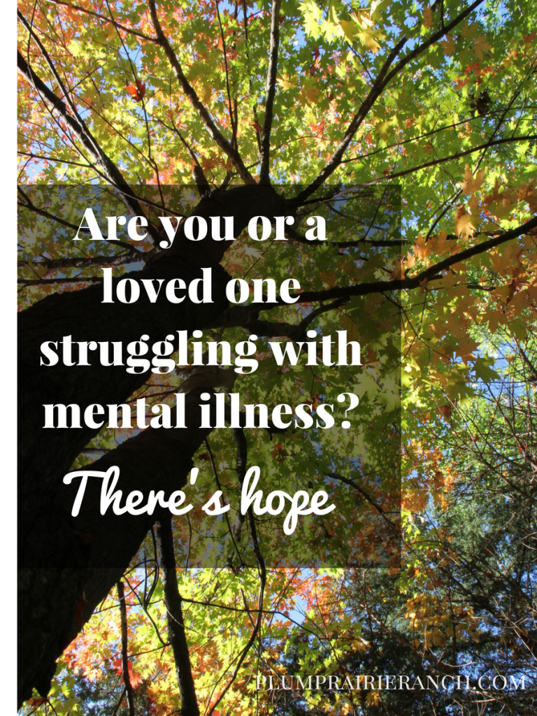 Are you or a loved one struggling with mental illness? There's hope!