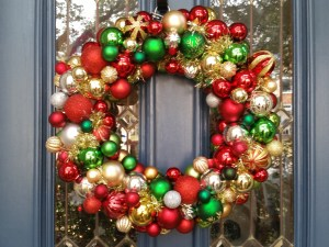 Ornament wreath repaired
