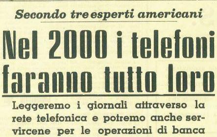 L'articolo di Trapani Nuova del 1962 con la profezia sull'uso dei telefoni nel futuro.