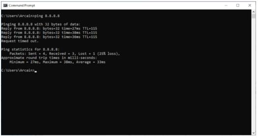 Ping network tool screenshot