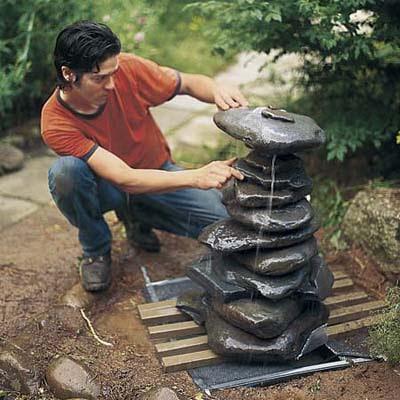 Comment construire une fontaine zen de jardin - Comment creer une fontaine de jardin ...