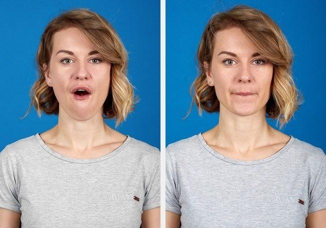 exercice facial pour double menton