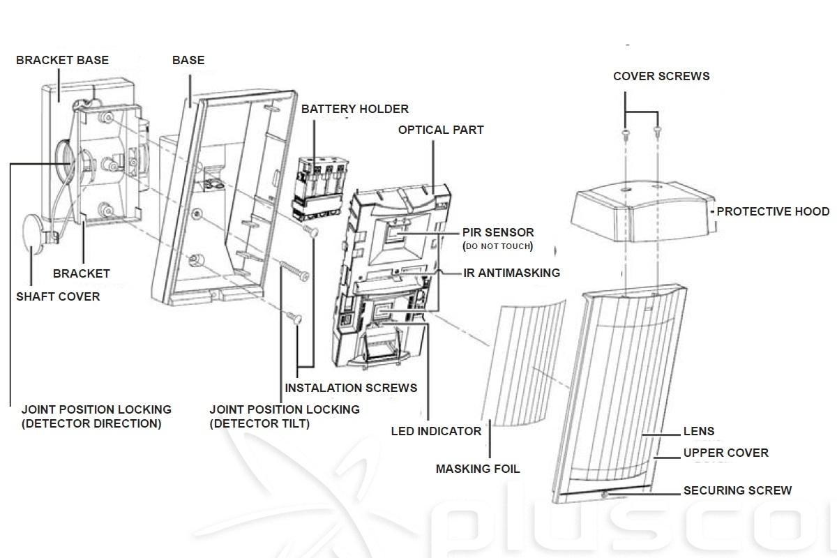 Jablotron Ja 188p Wireless Outdoor Pir Detector