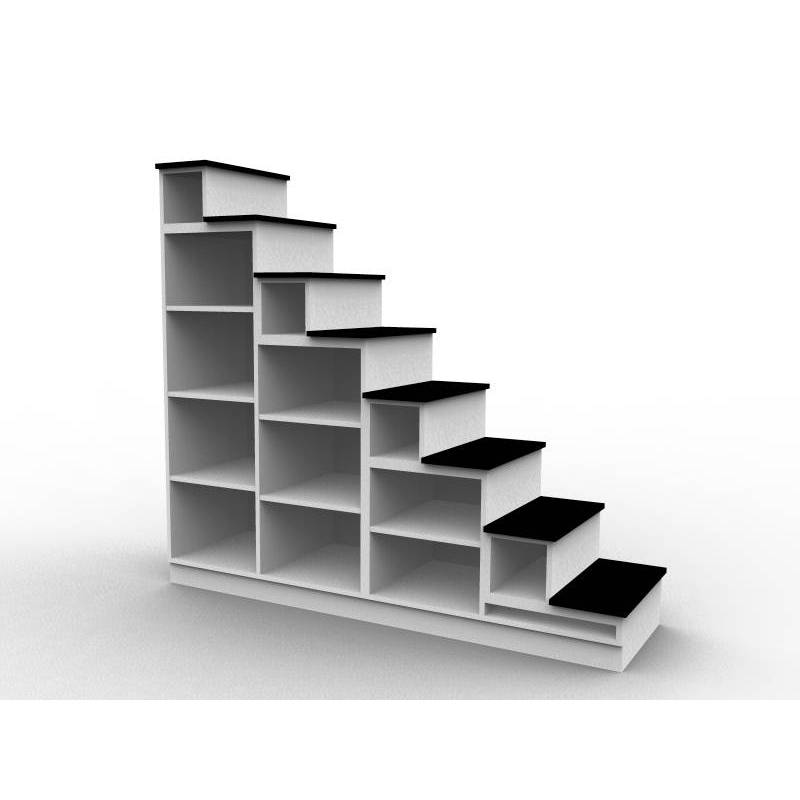 bibliotheque escalier sur mesure